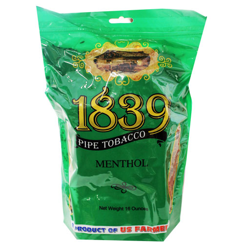 1839 Menthol Virginia Pipe Tobacco 16oz Green Bag