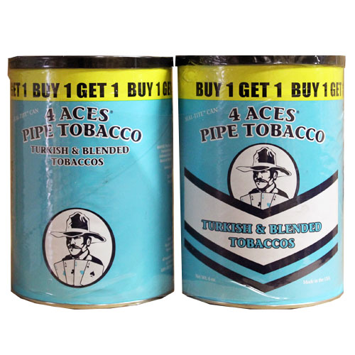 4 Aces Turkish Pipe Tobacco 6oz Canister Buy 1 Get 1 Free