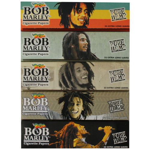 Bob Marley Hemp King Size Rolling Papers 5 Pack