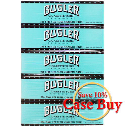 Bugler Original King Size Filtered Tubes 200ct - 50ct Case