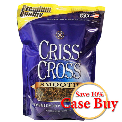 Criss Cross Smooth Blend Pipe Tobacco 16oz Blue Bag - 12ct Case
