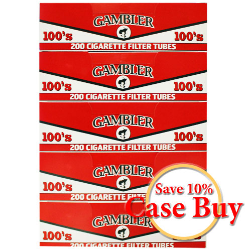 Gambler Regular 100mm Filter Tubes 200ct - 50ct Case