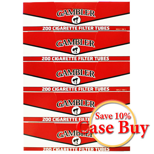 Gambler Regular King Size Filter Tubes 200ct - 50ct Case