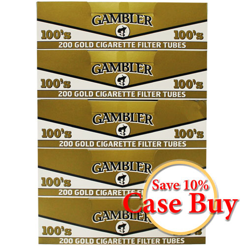 Gambler Gold 100mm Filter Tubes 200ct - 50ct Case