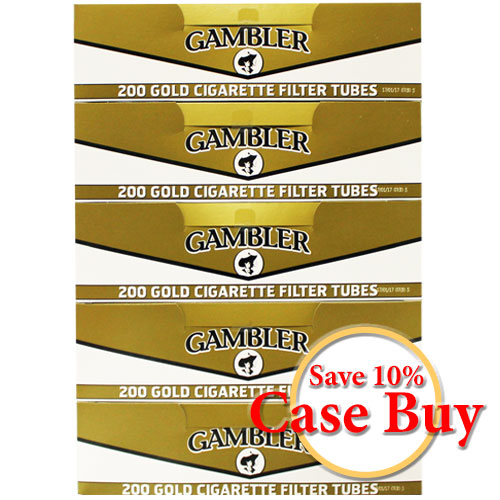 Gambler Gold King Size Filter Tubes 200ct - 50ct Case