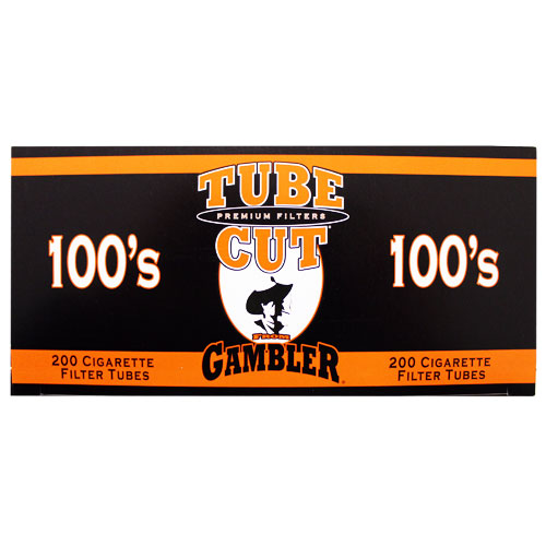 Gambler Tubecut Regular 100mm Filter Tubes 200ct