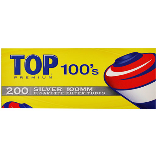 Top Silver 100mm Filter Tubes 200ct Box