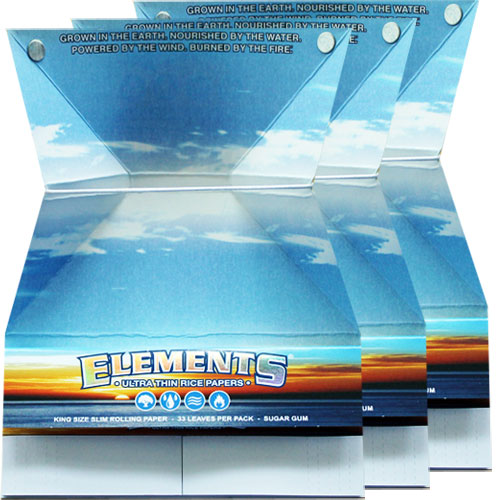 Elements Ultra Rice Aficionado Slim King Rolling Papers 3 Pack