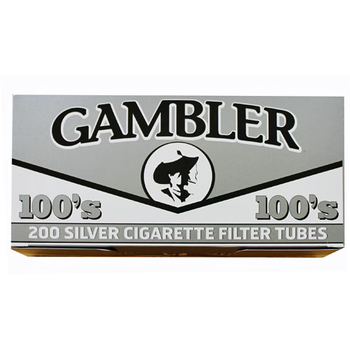 Gambler Silver 100mm Filter Tubes 200ct