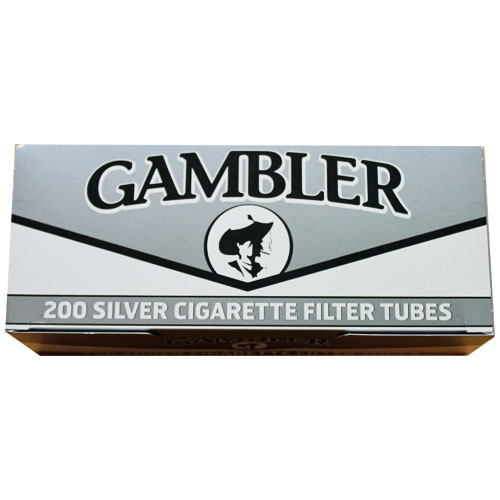 Gambler Silver King Size Filter Tubes 200ct