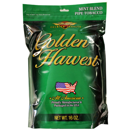 Golden Harvest Mint Pipe Tobacco 6oz Green Bag