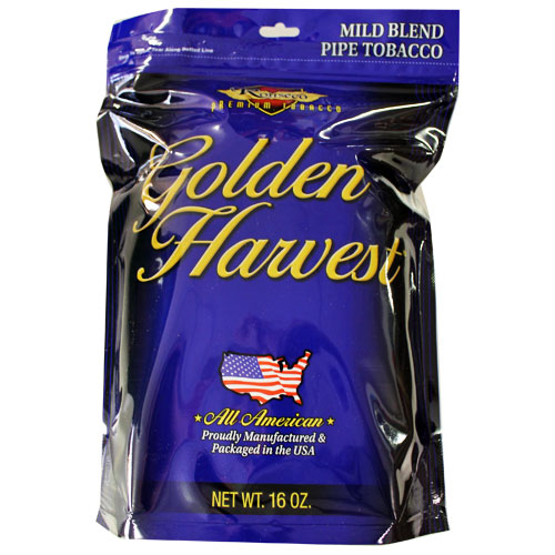 Golden Harvest Mild Pipe Tobacco 6oz Blue Bag