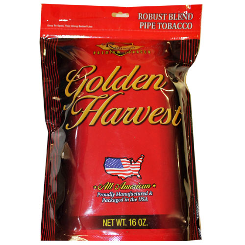 Golden Harvest Robust Pipe Tobacco 16oz Red Bag