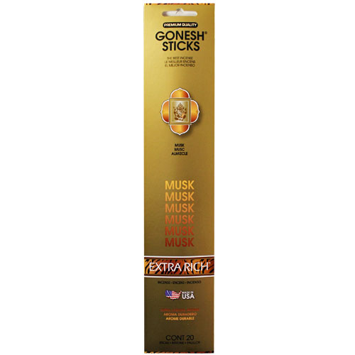 Gonesh Extra Rich Collection Musk - 20 Stick Pack