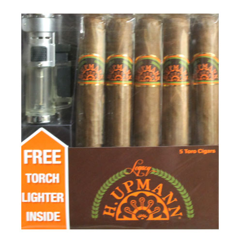 H Upmann Legacy Toro 5 Pack w/Free Lighter Gift Pack