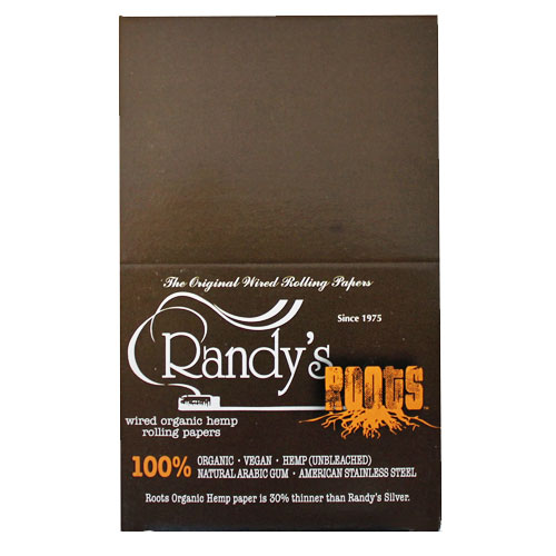 Randy's Wired Roots Organic 79mm Rolling Papers Box