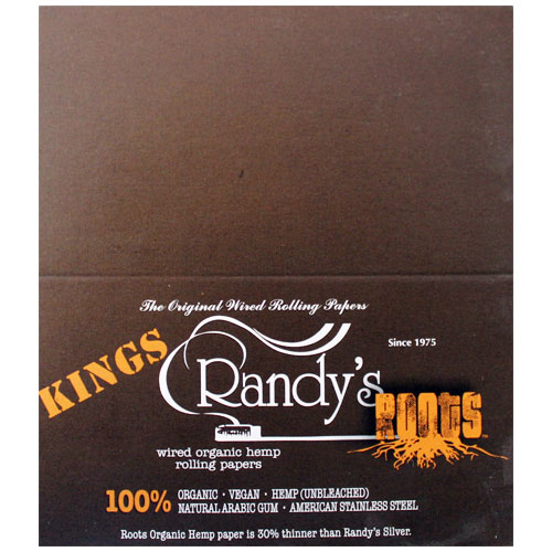 Randy's Wired Roots Organic King 100mm Rolling Papers Box