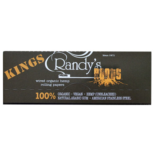 Randy's Wired Roots Organic King 100mm Rolling Papers 5 Pack