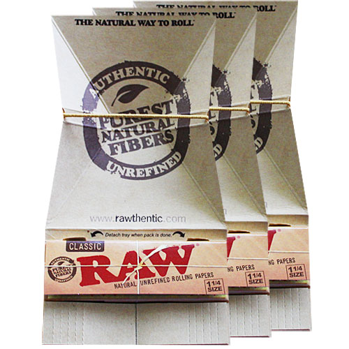 RAW 100% Natural Artesano 1/4 Size Rolling Papers 3 Pack