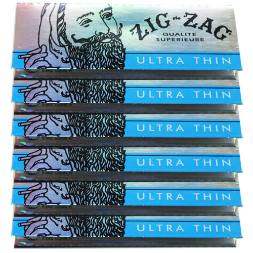 Zig Zag 1 1/4 Size Ultra Thin Rolling Papers 6 Pack