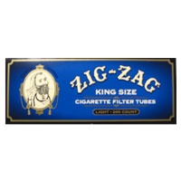 Zig Zag White Tipped King Size Filter Tubes 200ct Blue Box